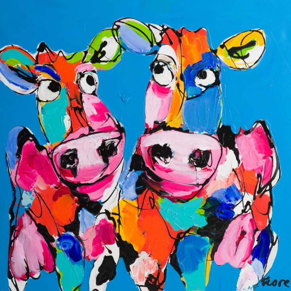 Colourful art cows Fiore, Art 166041