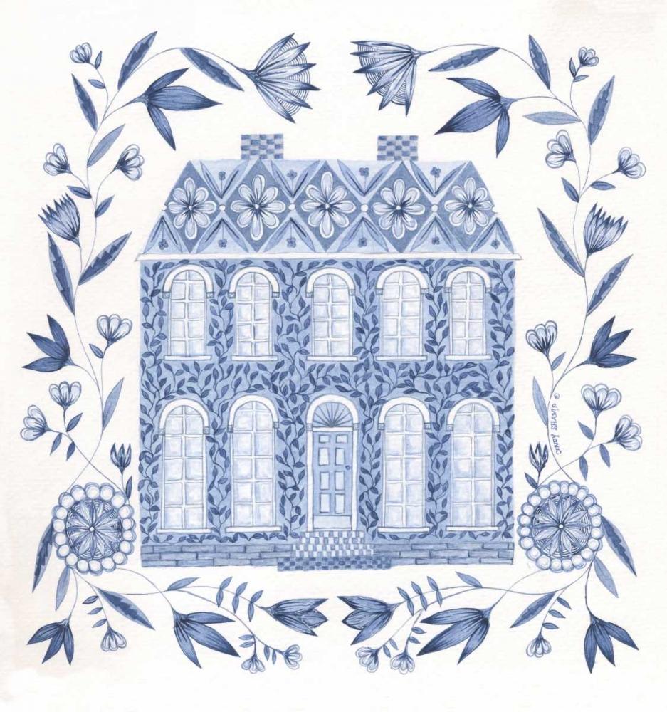 Country Blue House I Shamp, Cindy 104772