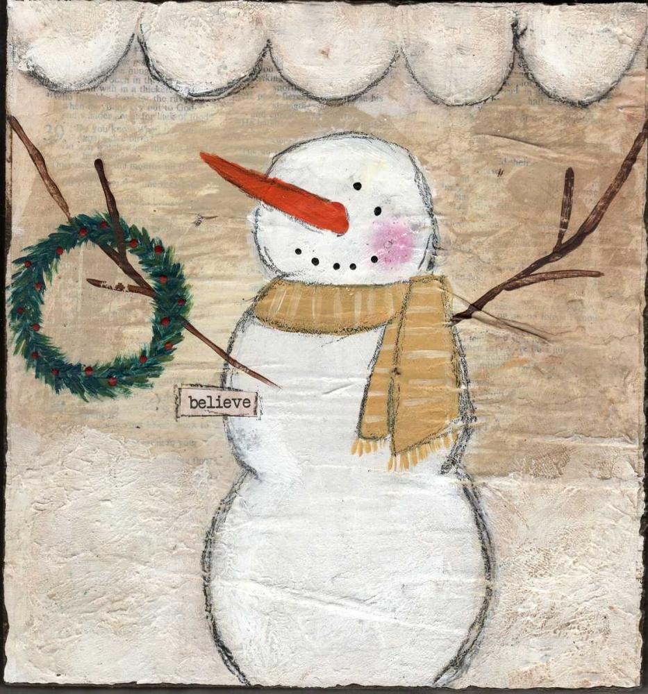 Believe Snowman Cushman, Cassandra 83248