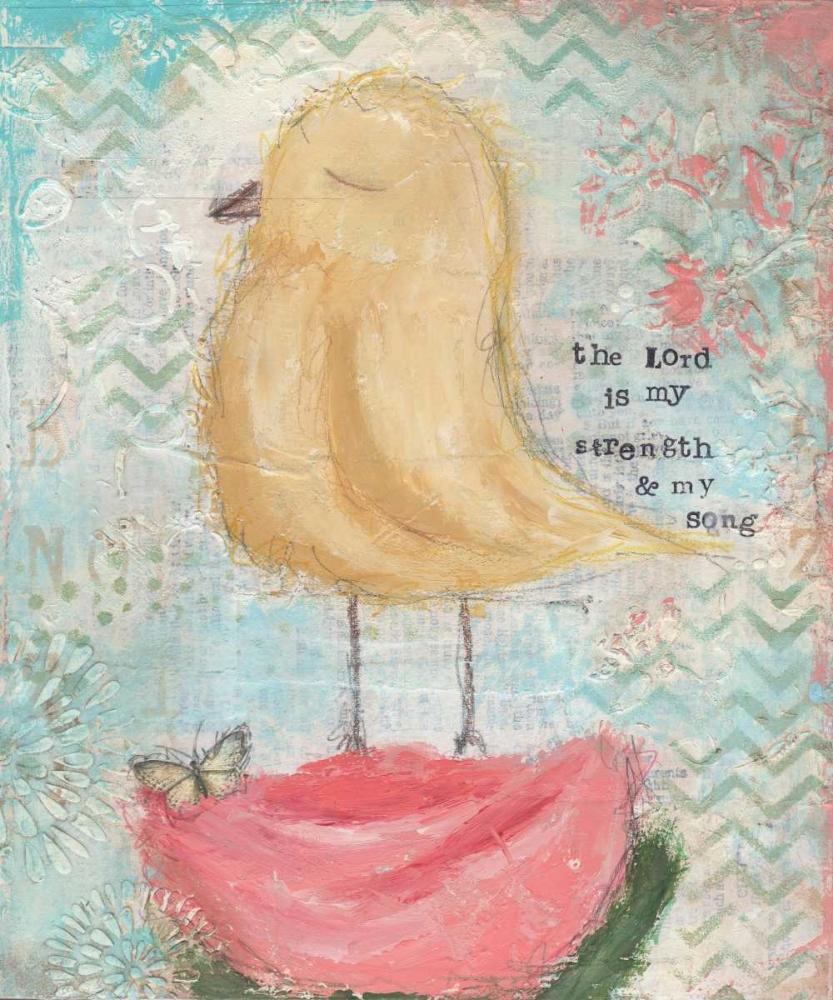 Yellow Bird, Pink Flower Cushman, Cassandra 156450