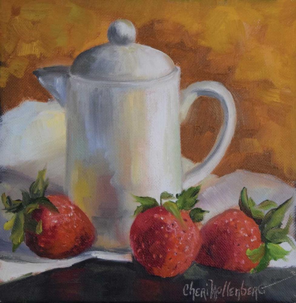 White Creamer and Red Strawberries Wollenberg, Cheri 55896