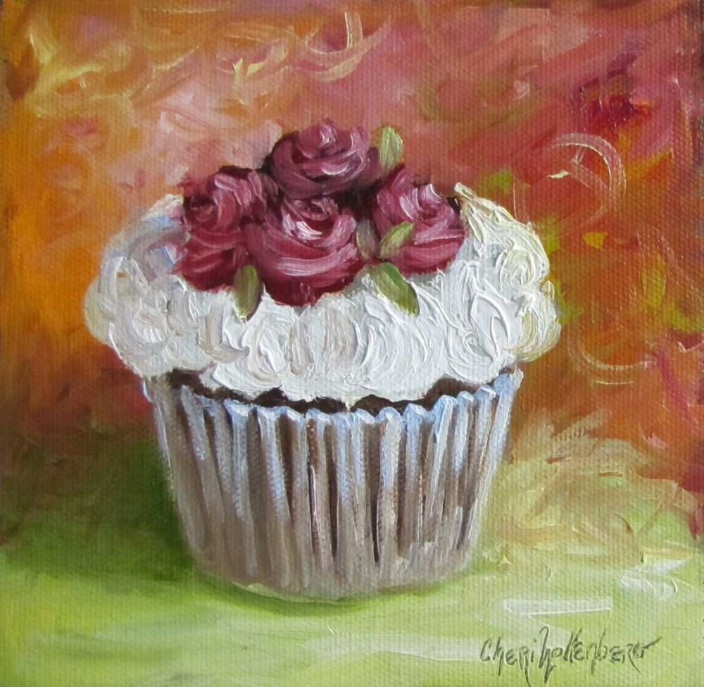 Cupcake with Frosting of Roses Wollenberg, Cheri 87759