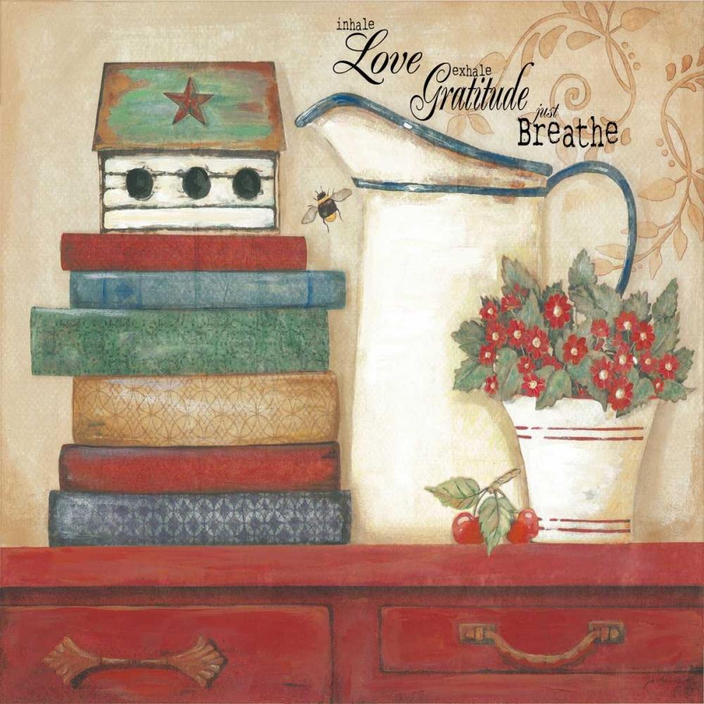Love Gratitude Breathe Moulton, Jo 44569