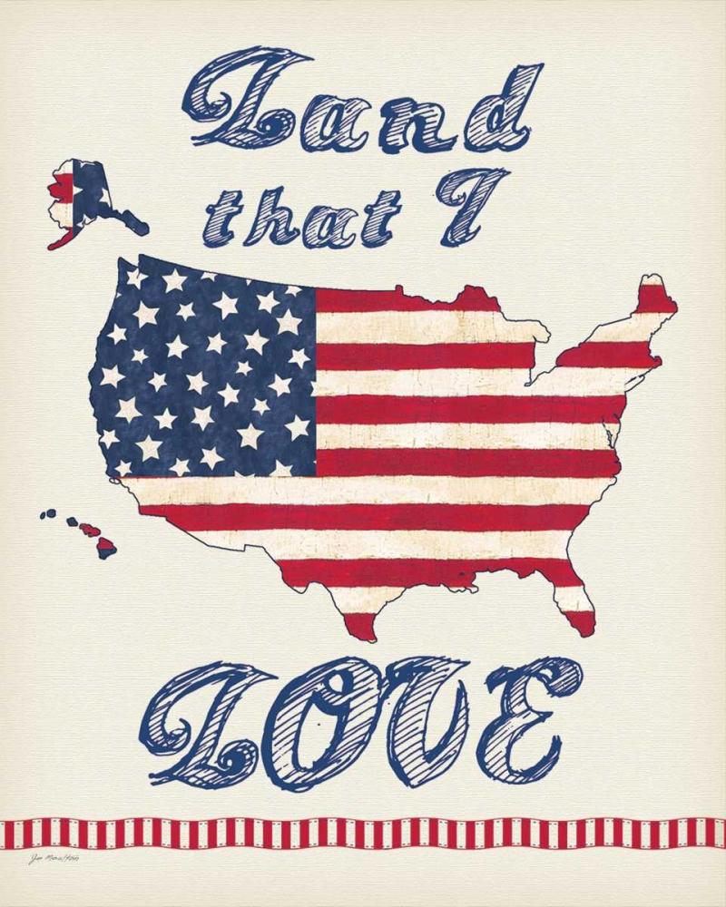 Flag Land I Love Moulton, Jo 44592