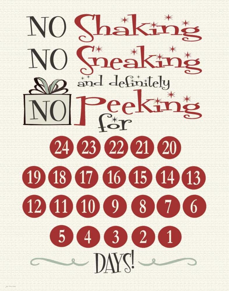 No Peeking Countdown Moulton, Jo 48719