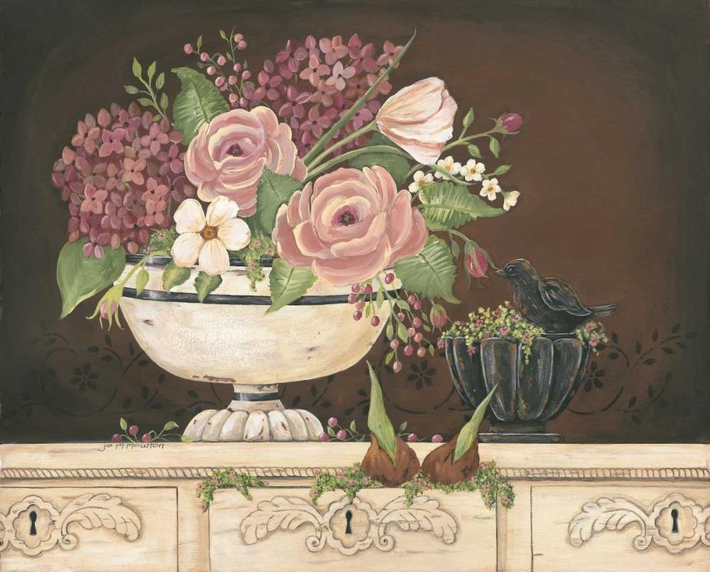 Floral With Black Bird Moulton, Jo 44681