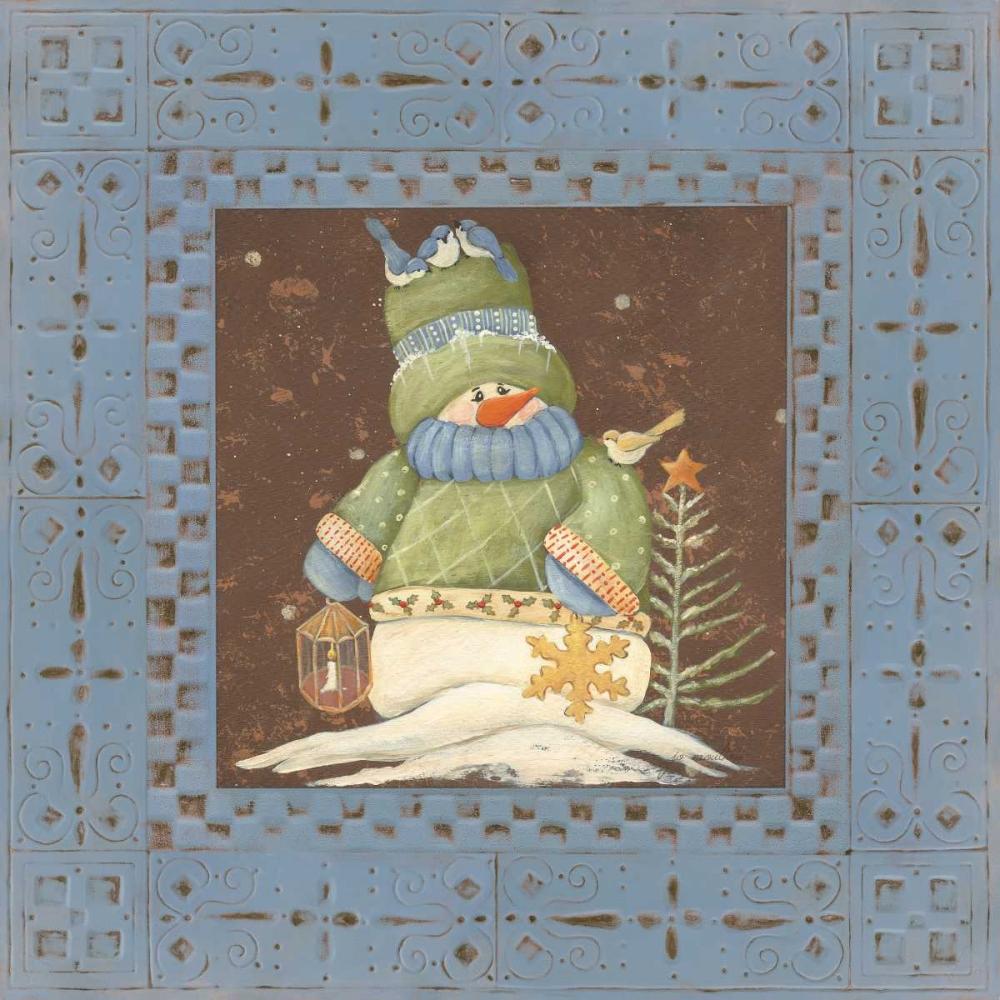 Blue Tin Snowman Moulton, Jo 44853