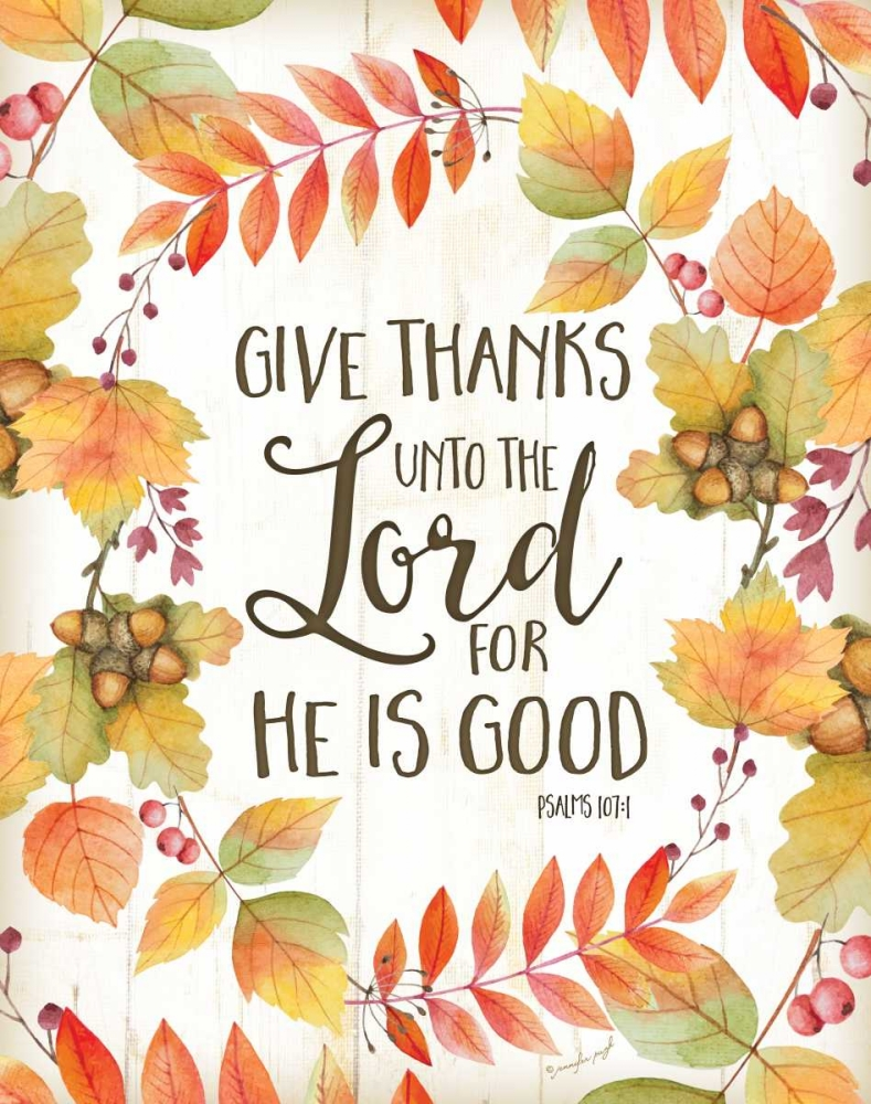 Give Thanks Unto the Lord Pugh, Jennifer 77665