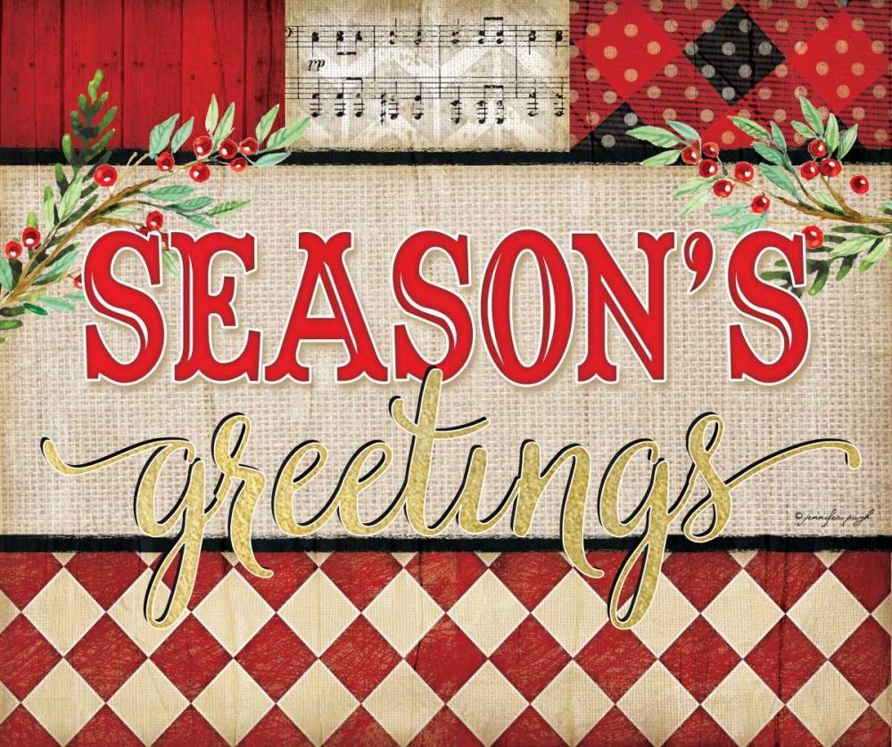 Seasons Greetings Plaid Pugh, Jennifer 156541