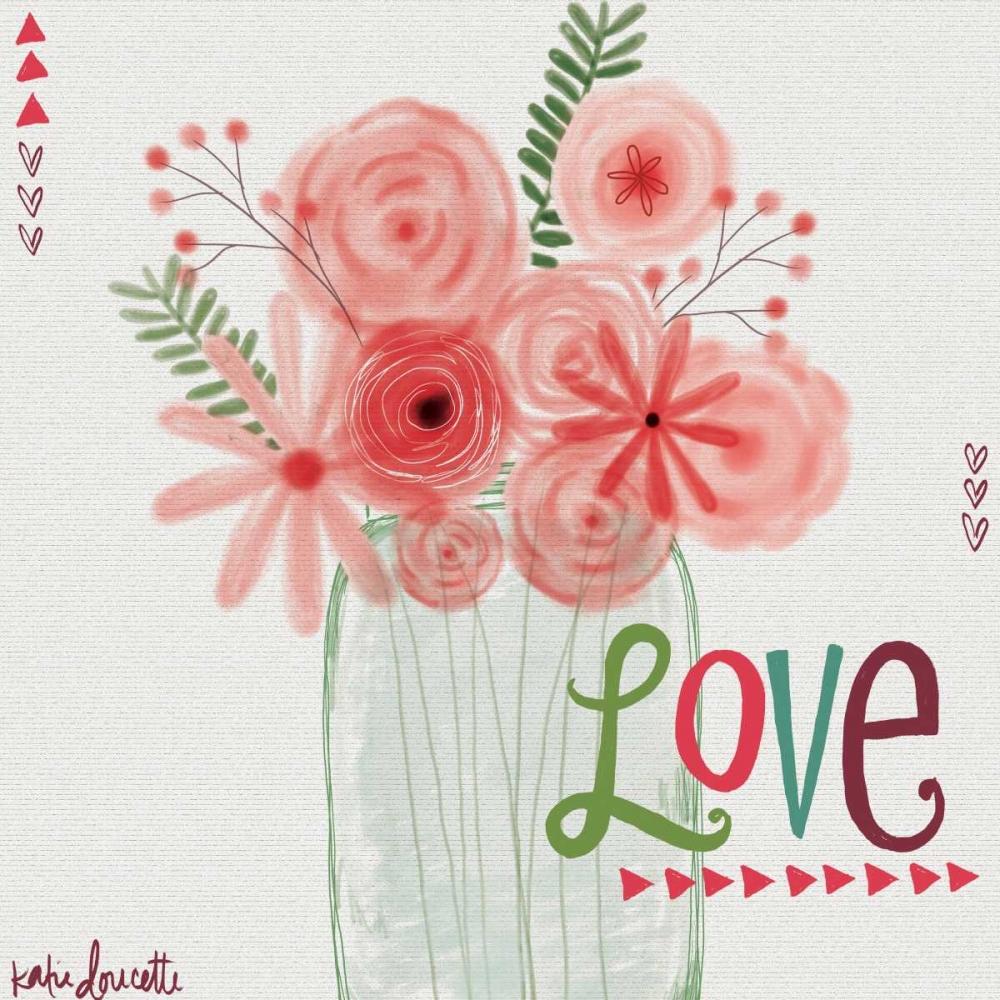 Watercolor Flowers in Jar Doucette, Katie 88559