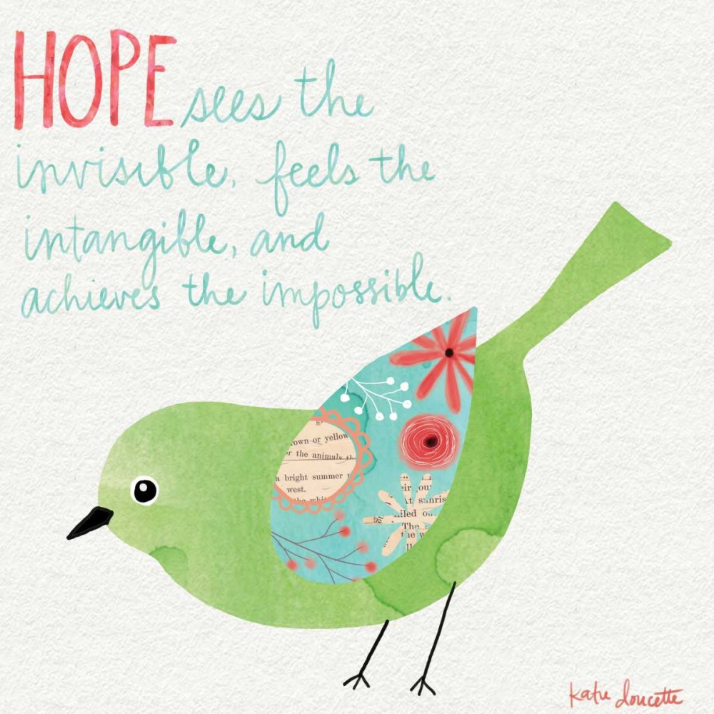 Hope Watercolor Bird Doucette, Katie 88569