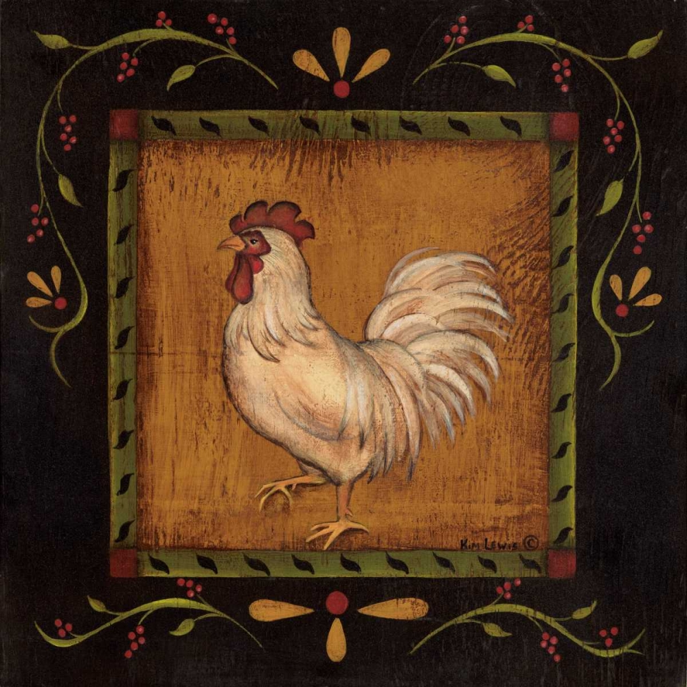 Square Rooster Left Lewis, Kim 45560