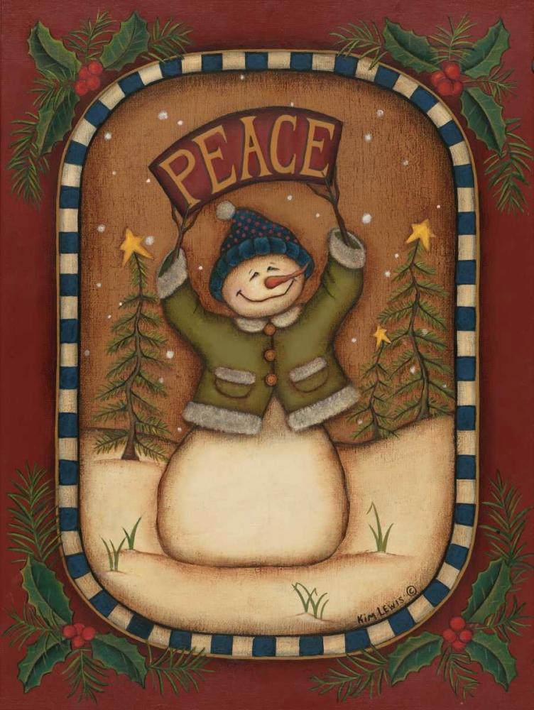 Peace Snowman Lewis, Kim 45579