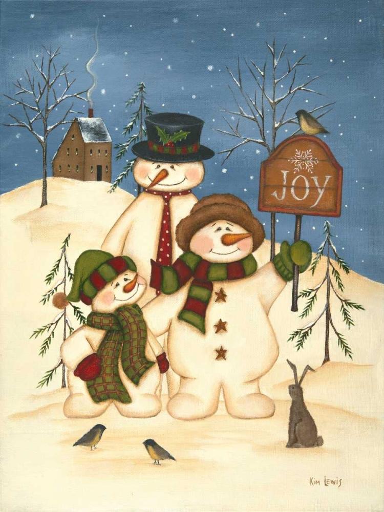 Snowman Family Joy Lewis, Kim 48908