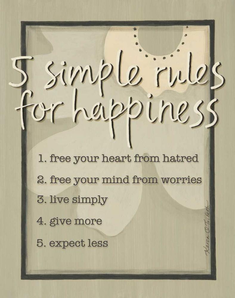 Five Simple Rules Tribbet, Karen 46044