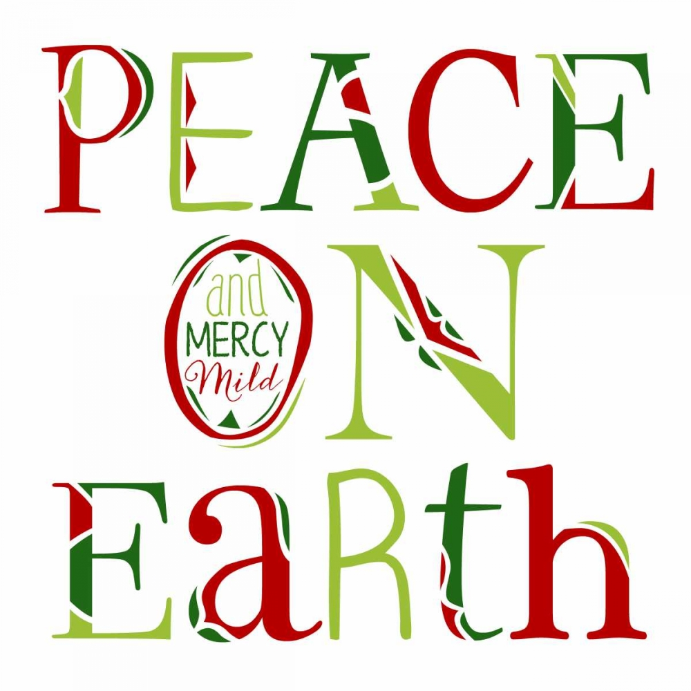 Peace on Earth on White Longfellow Designs 141107