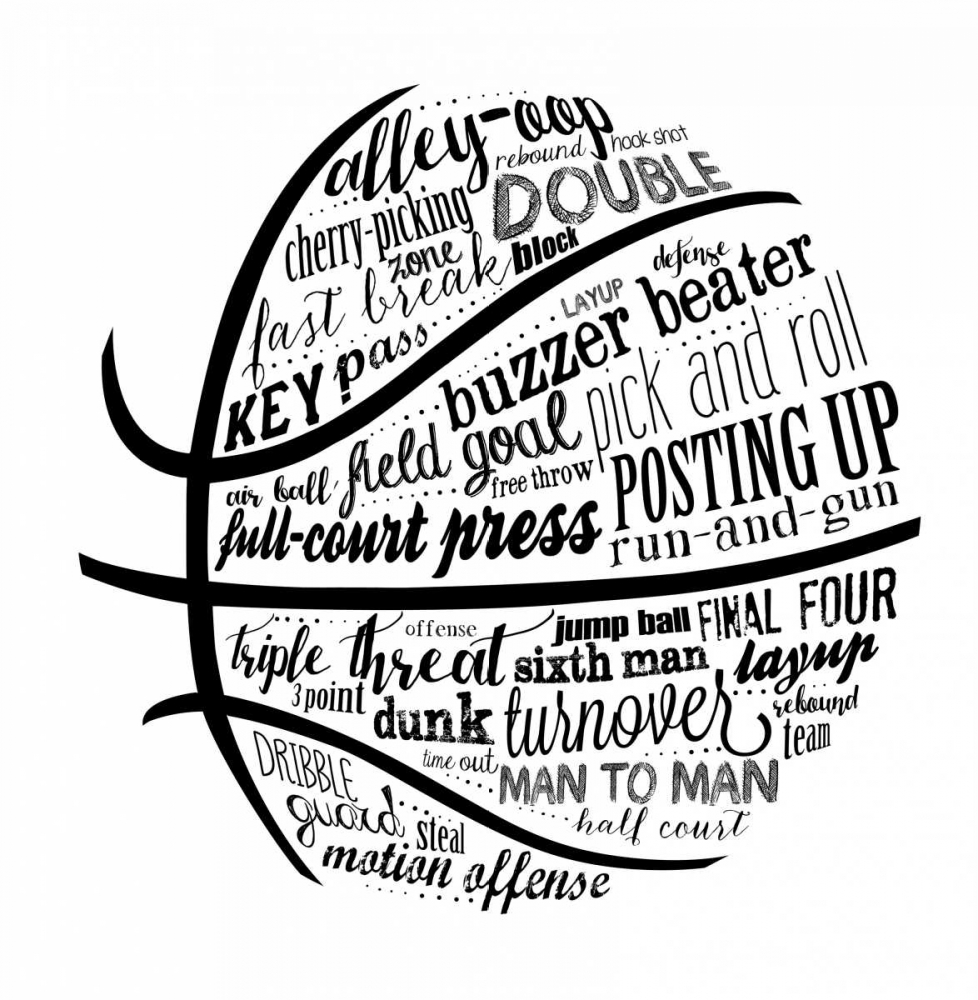 Basketball Terms BNW Longfellow Designs 156618