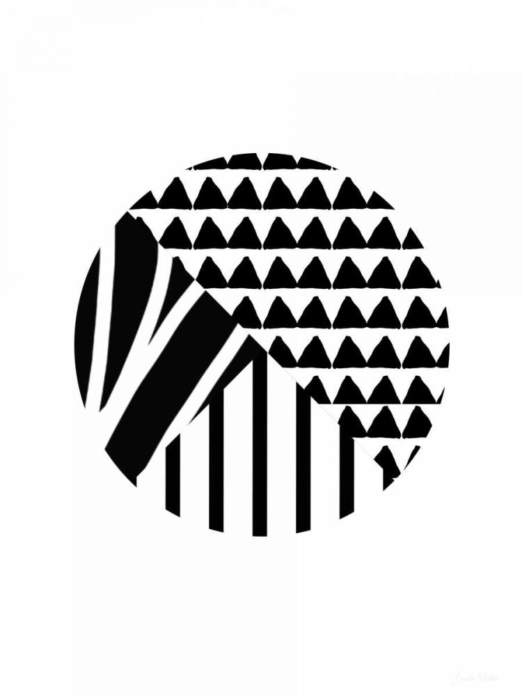 Black and White Pattern Ball Woods, Linda 141117