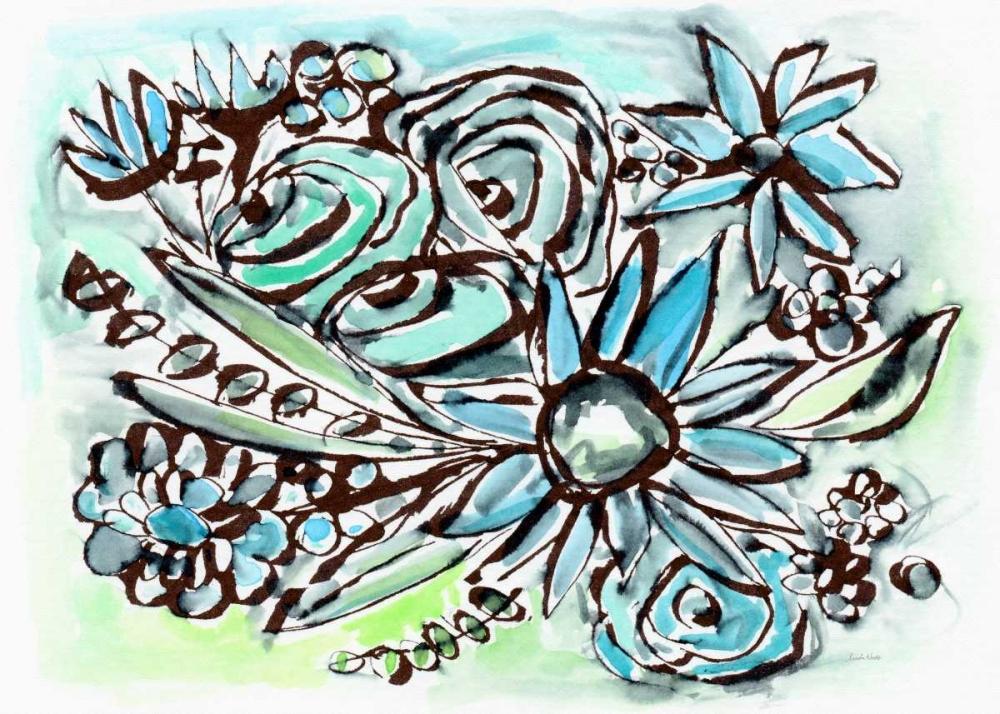Beach Glass Flowers I Woods, Linda 141141