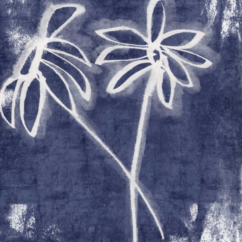 Indigo Floral II Woods, Linda 153618