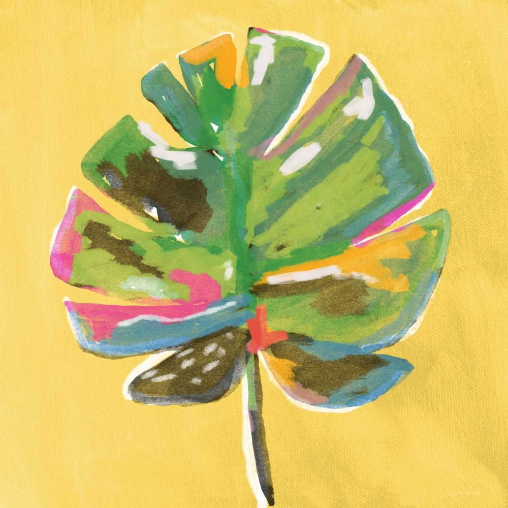 Painted Palm on Yellow Woods, Linda 156693