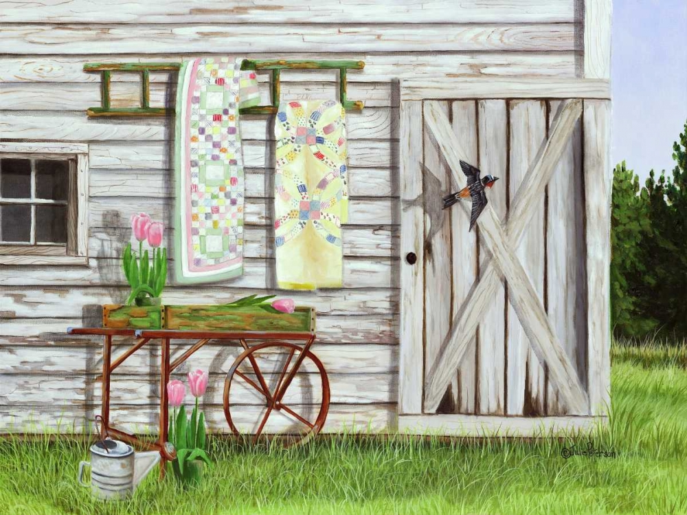 Garden Shed and Swallow Peterson, Julie 49264
