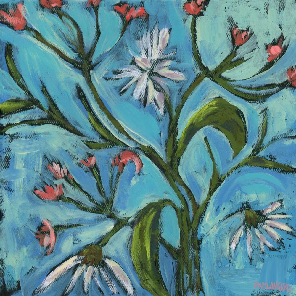 Blue Daisy Pattern Pamela J. Wingard 97504
