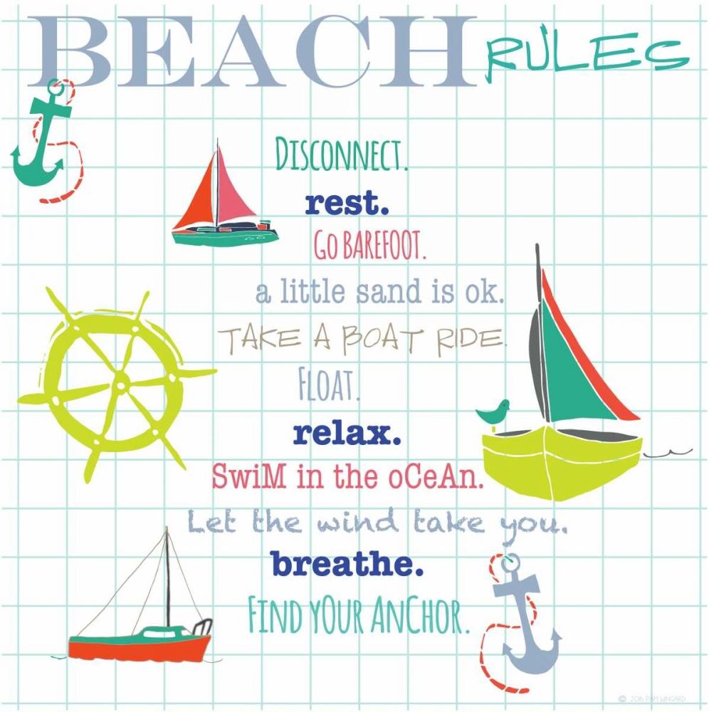 Beach Rules Anchors Pamela J. Wingard 97519