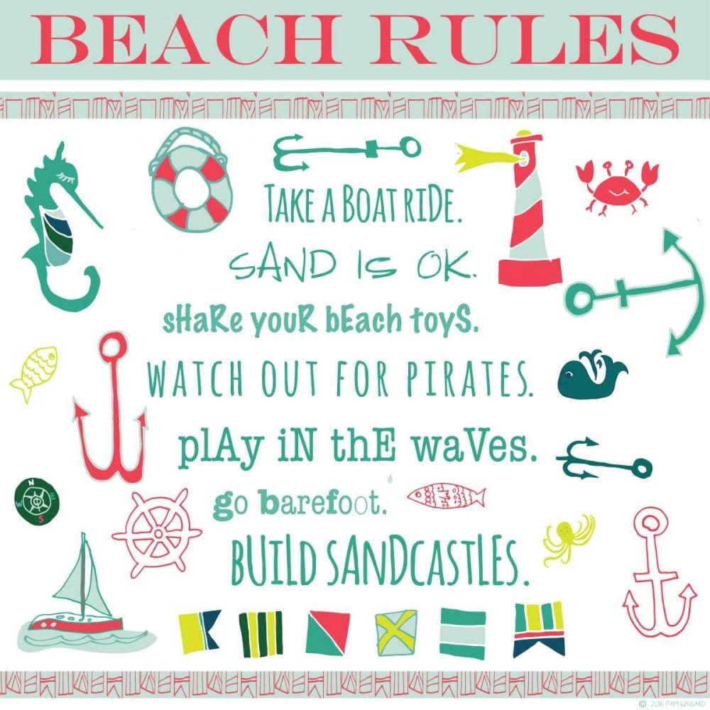 Beach Rules Ahoy Pamela J. Wingard 97521