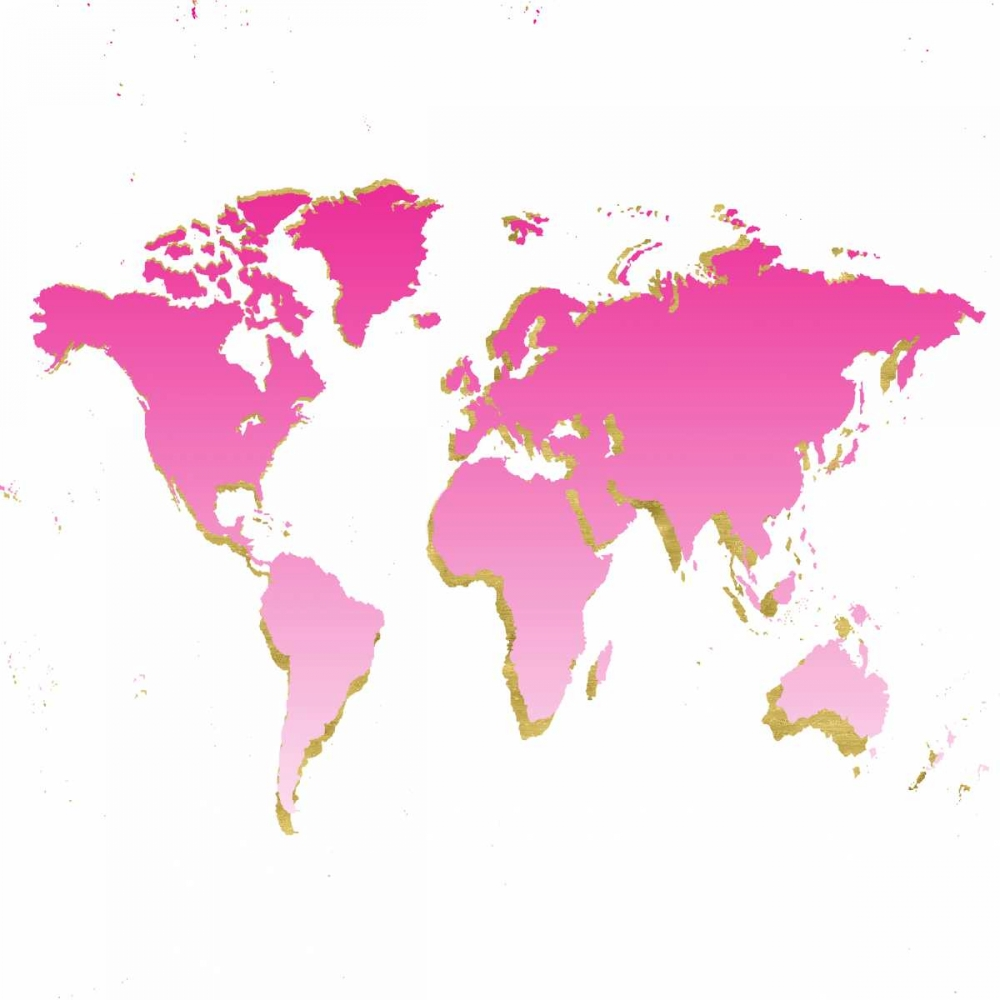 World Map Pink and Gold Murdock, Ramona 156839