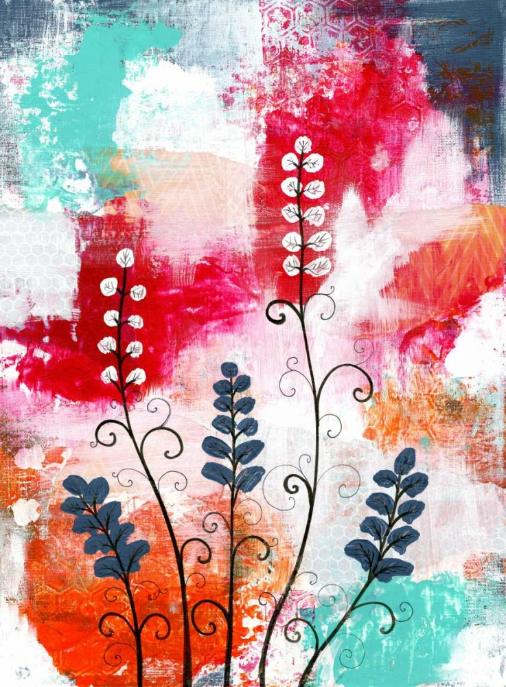 Bright Abstract with Flowers Ogren, Sarah 63181