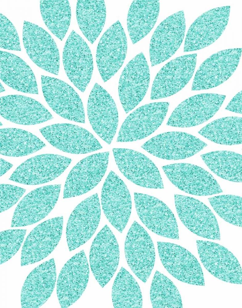 Turquoise Flower Glitter Robinson, Tamara 99891