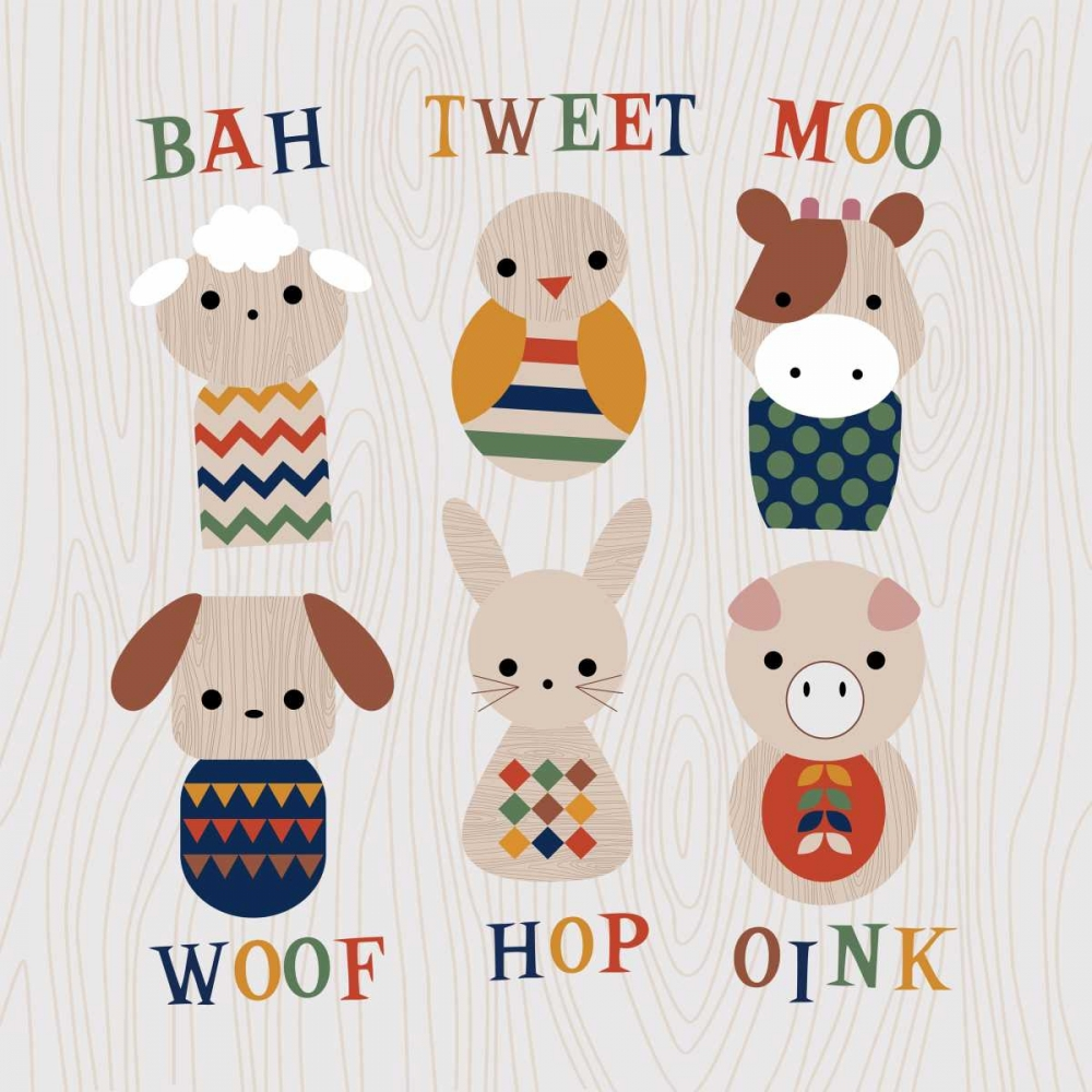 Wooden Animals with Words Robinson, Tamara 120232