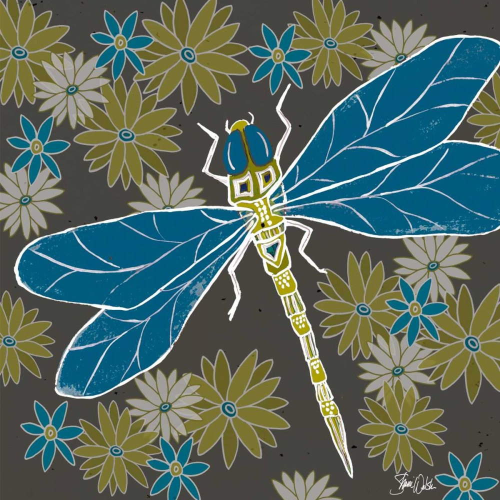Dragonfly and Floral Welsh, Shanni 63296