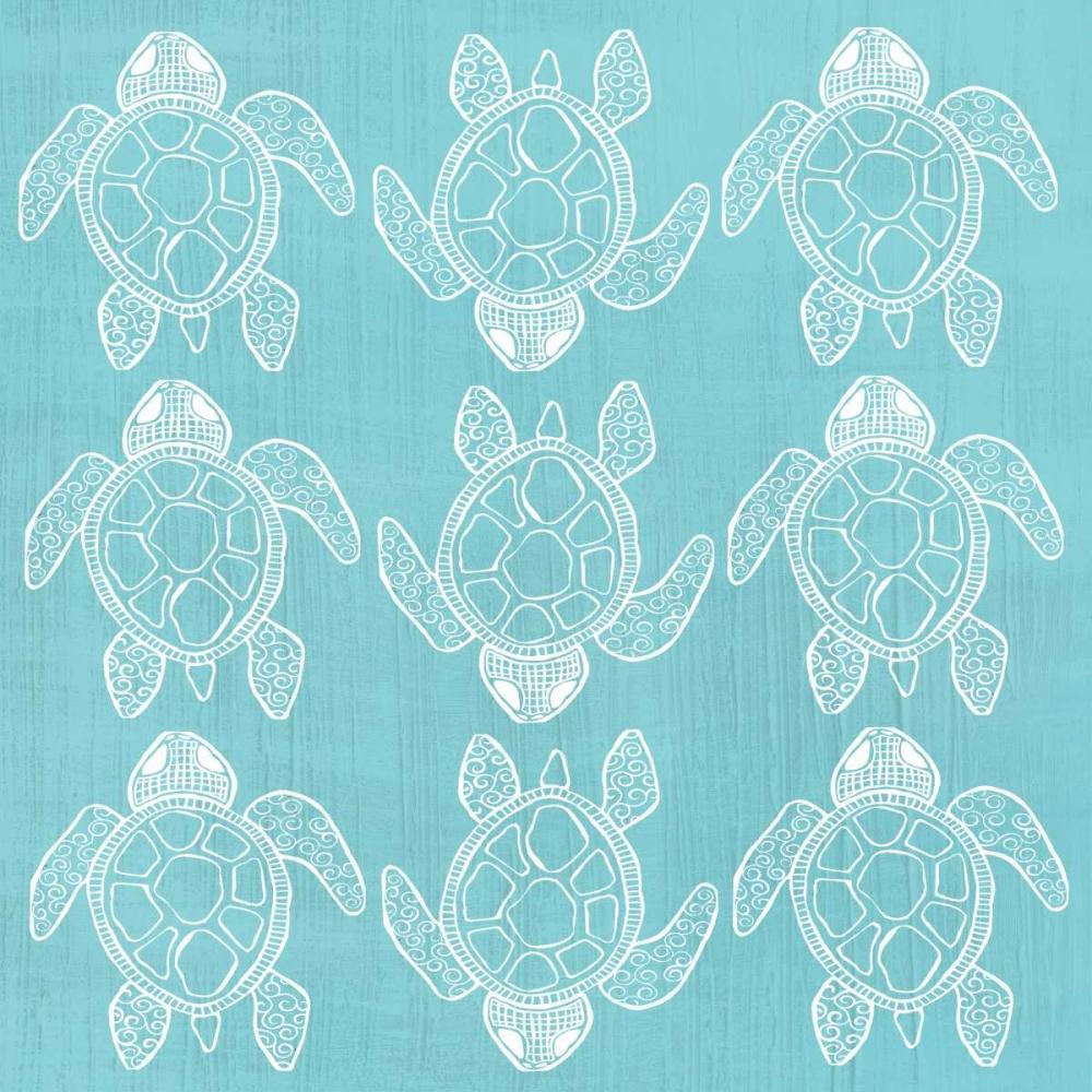 Blue Turtle Pattern Welsh, Shanni 65263