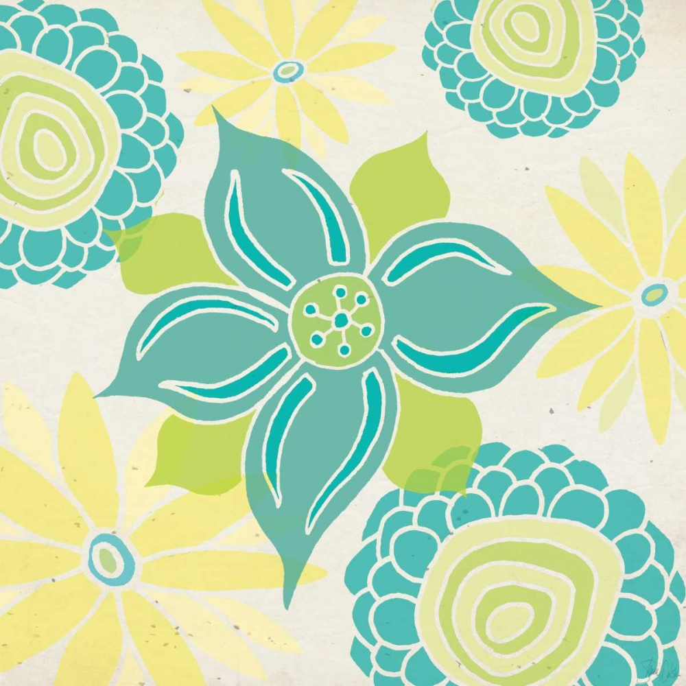 Yellow and Aqua Botanical Welsh, Shanni 81273
