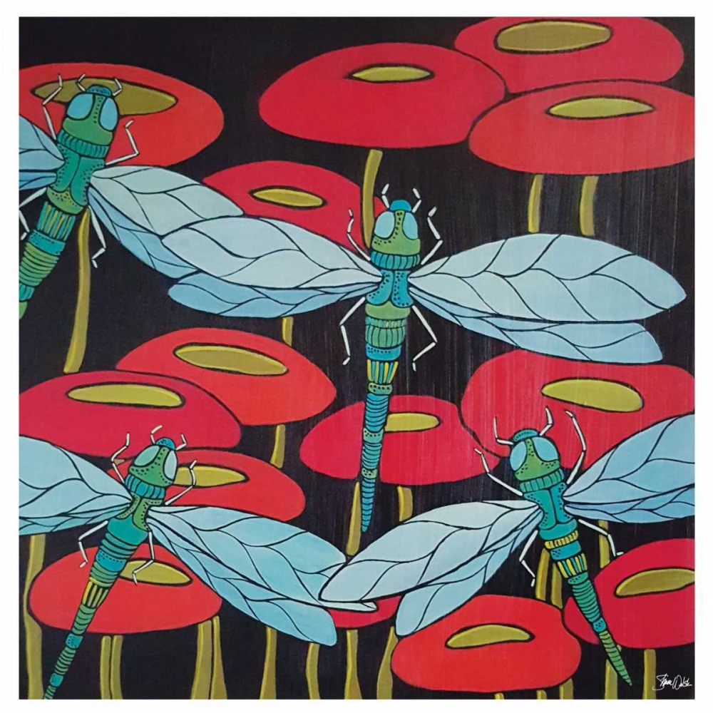Dragonflies & Poppies Welsh, Shanni 100237
