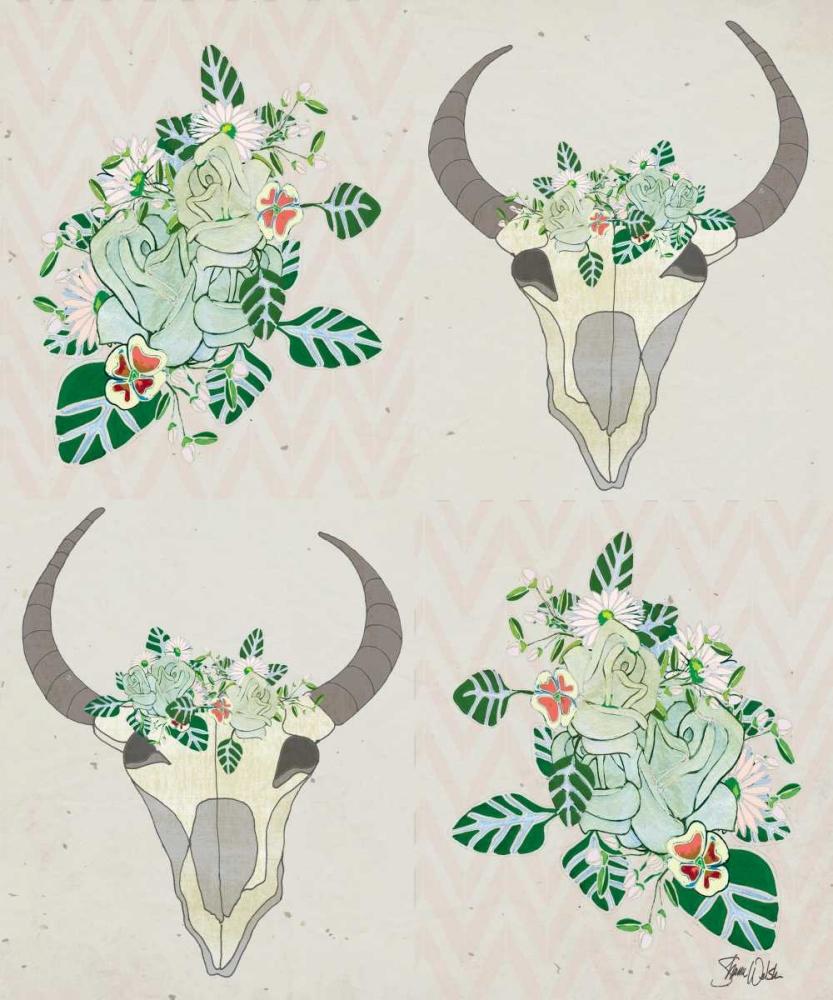 Animal Skull Botanicals Pattern Welsh, Shanni 141925
