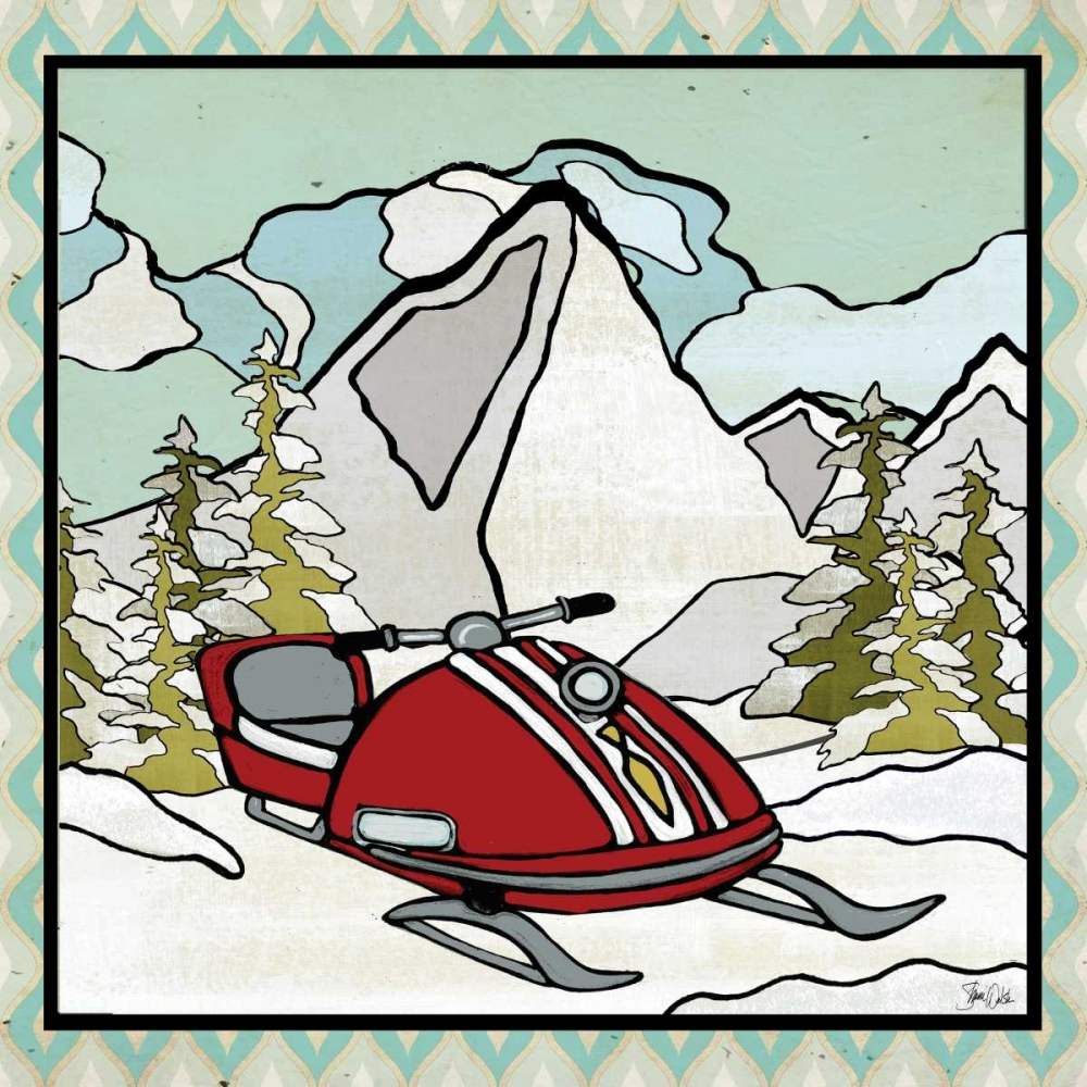 Retro Snow Mobile Welsh, Shanni 154134