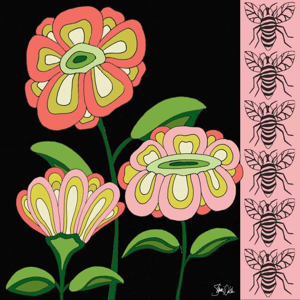 Floral and Bees Pink Welsh, Shanni 157402