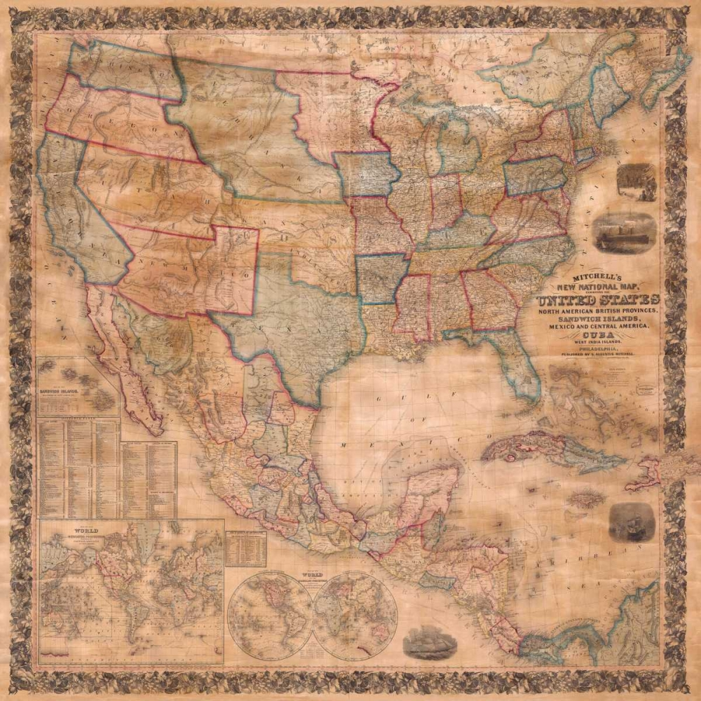 Map of the United States and North America, 1856 Anonymous 162713