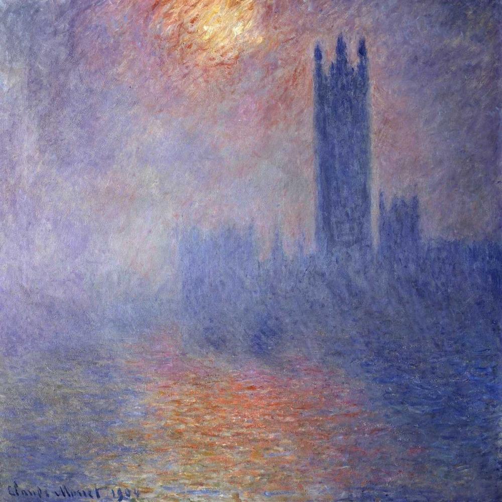 Vue du Parlement de Londres Monet, Claude 42666