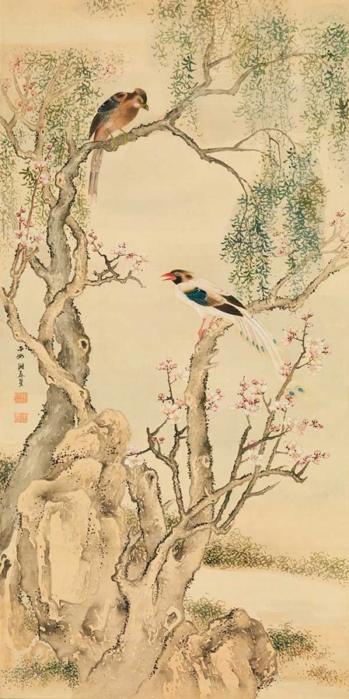 Birds on flowered branches Anonymous 162718