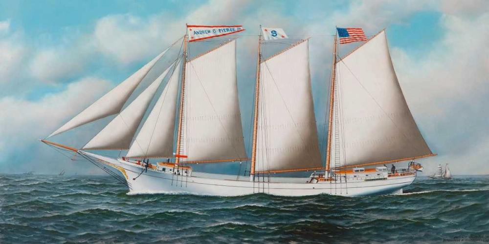 Three Masted Schooner Andrew C. Pierce Jacobsen, Antonio Nicolo Gasparo 117820