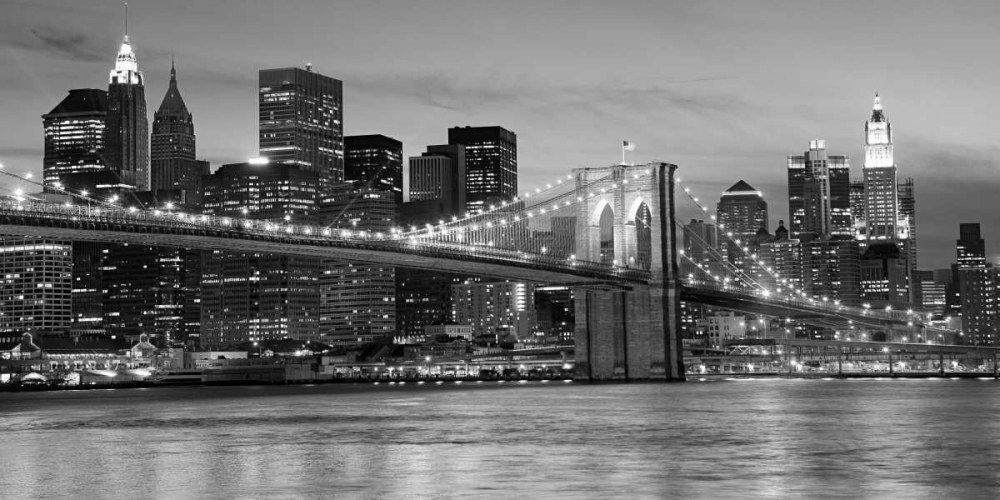 Brooklyn Bridge at Night Anonymous 42977