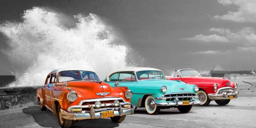 Cars in Avenida de Maceo- Havana- Cuba Pangea Images 148993