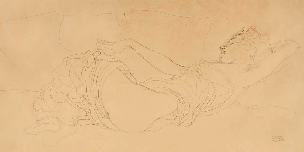 Sleeping Woman Klimt, Gustav 43254
