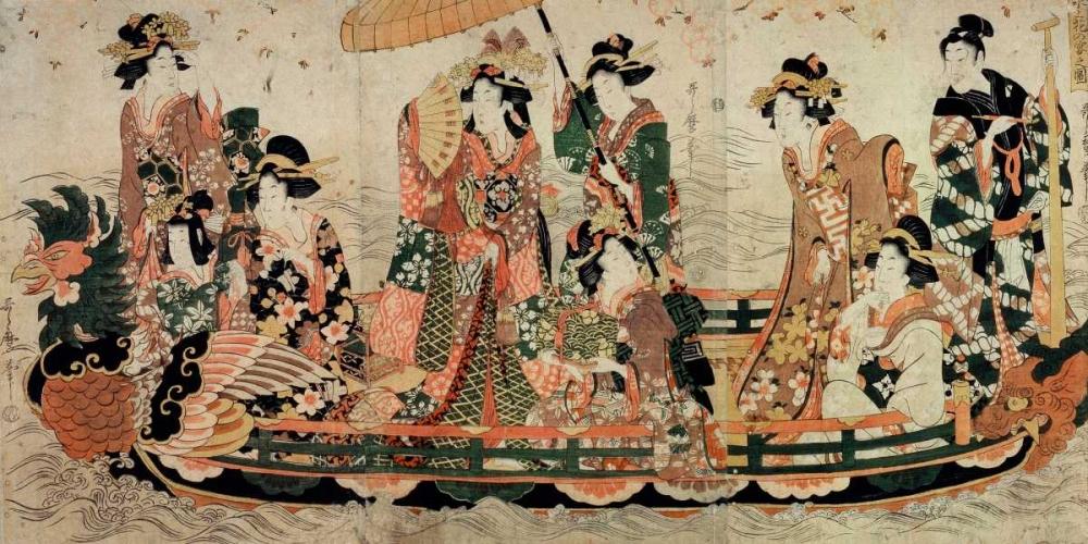 Admirer la floraison des cerisiers Kitagawa, Utamaro 162843