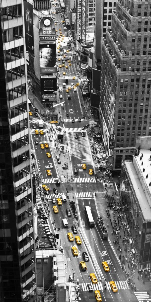 Yellow taxi in Times Square, NYC Setboun, Michel 117945