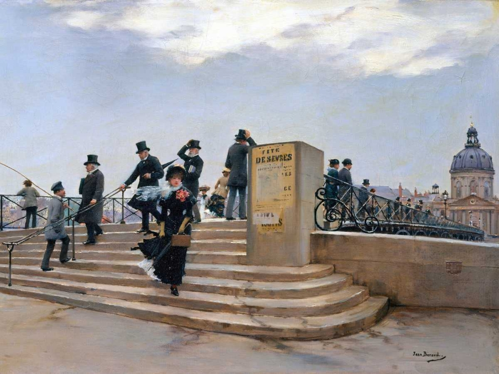 On the Pont des Arts, Paris (detail) Beraud, Jean 162753
